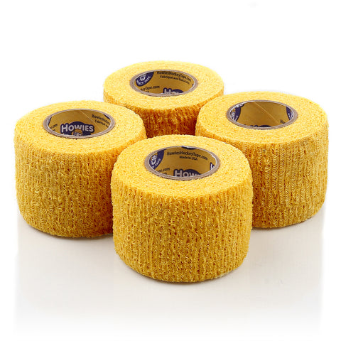 Howies Yellow Stretchy Grip Hockey Tape - 4pk - Howies Hockey Tape