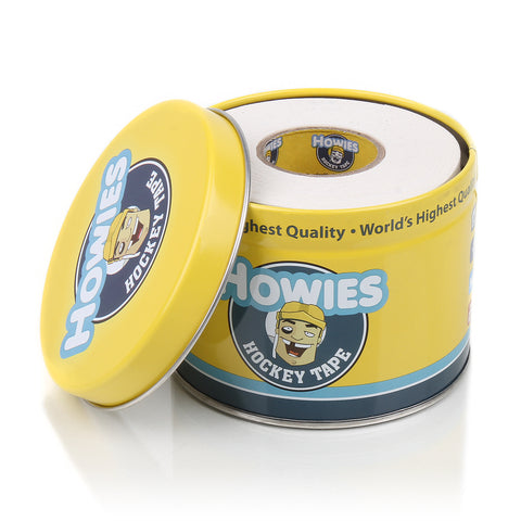 Howies Hockey Tape - Loaded Tape Tin - 3 Rolls - Pick Your Rolls - White Black Clear