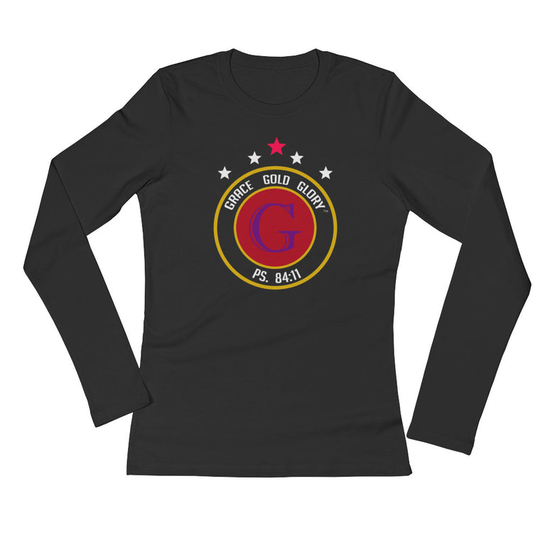 Black Classic Grace, Gold & Glory™ Long Sleeve T-Shirt