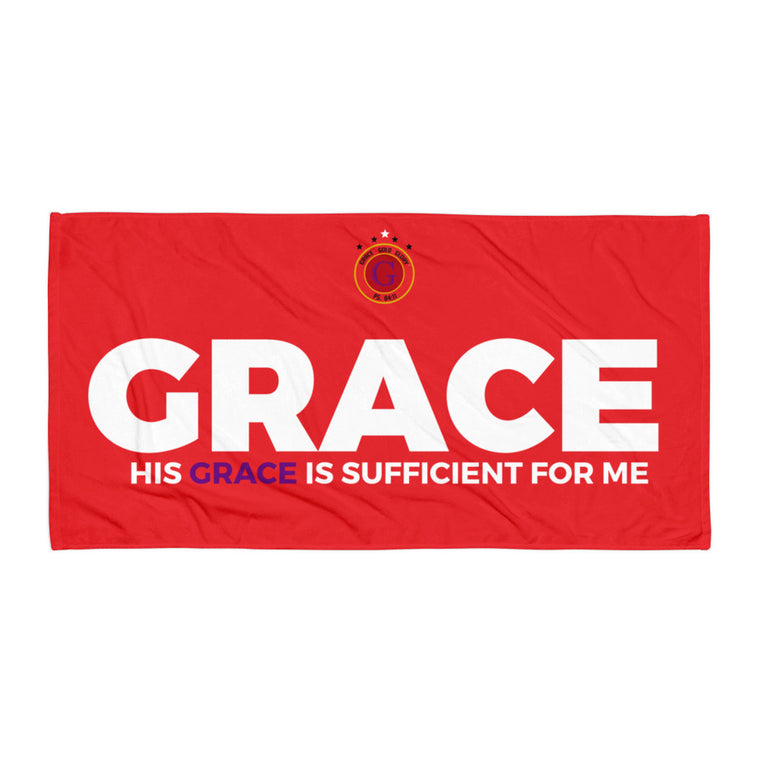 Grace, Gold & Glory™ Red Grace Collection Towel