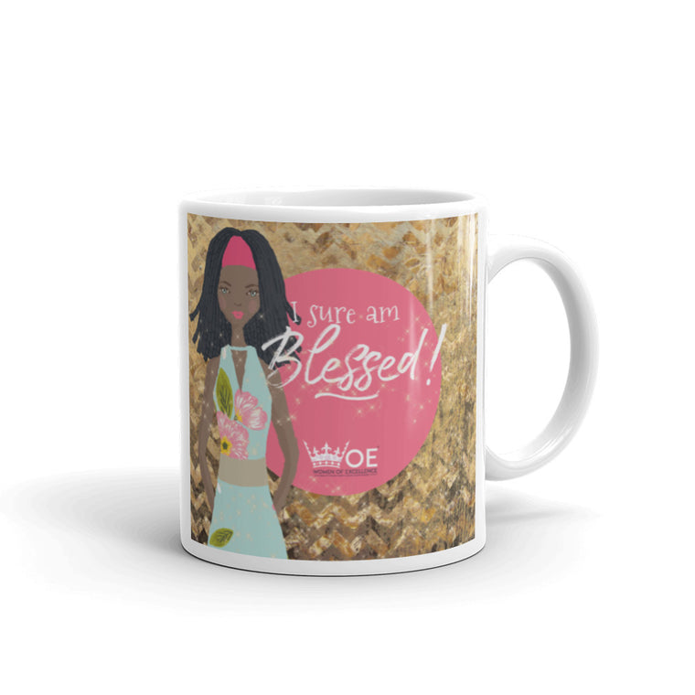 WOE™ I Sure am Blessed Mug. Made in the USA