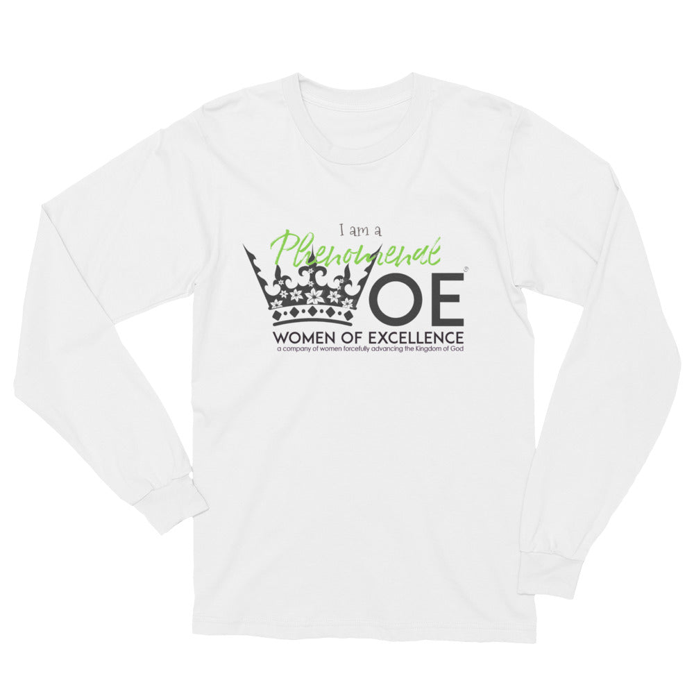 Phenomenal WOE™ Lifestyle Long Sleeve T-Shirt. Made in the USA.