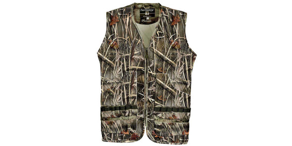 Percussion Palombe Camo Hunting Vest - Wetland Camo