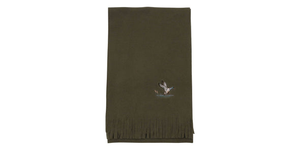 Embroidered Fleece Scarf