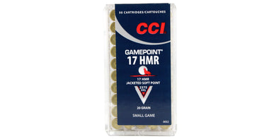 CCI Gamepoint 17hmr 20gr Jacketed Soft Point