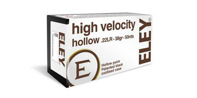 Eley High Velocity 22lr 38gr Hollow Point