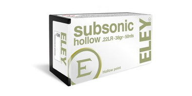 Eley Subsonic 22lr 38gr Hollow Point