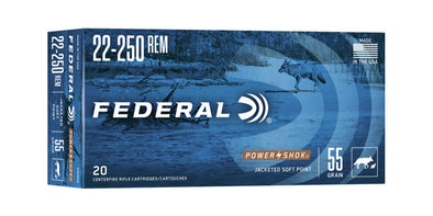 Federal Power-Shok 22-250rem 55gr Soft Point