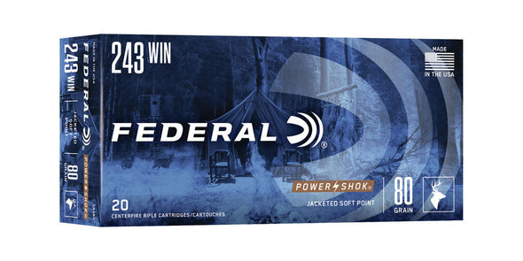 Federal Power-Shok 243win 80gr Soft Point
