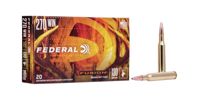 Federal Fusion 270win 130gr Soft Point