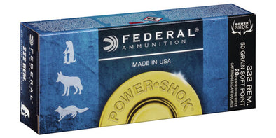 Federal Power-Shok 222rem 50gr Soft Point