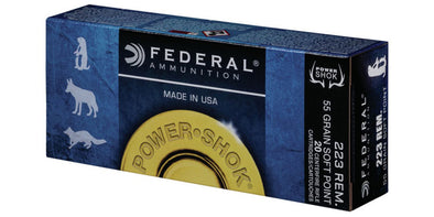 Federal Power-Shok 223rem 64gr Soft Point