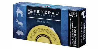 Federal Power-Shok 300 Savage 150gr Soft Point