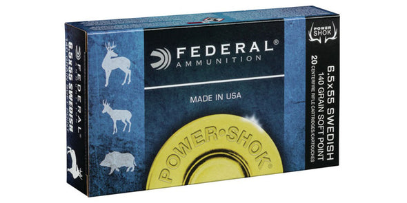 Federal Power-Shok 6.5x55se 140gr Soft Point