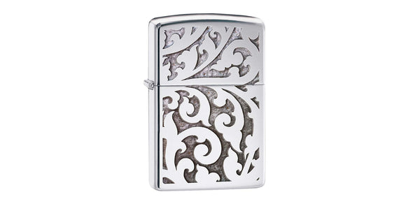 Zippo High Polish Chrome with Filigree