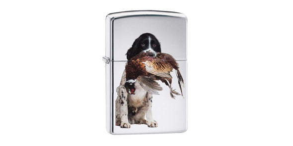 Zippo High Polish Chrome Spaniel