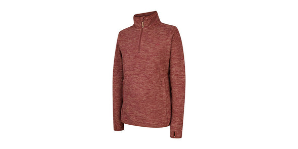 Hoggs of Fife Woburn Ladies Pullover in Marled Red