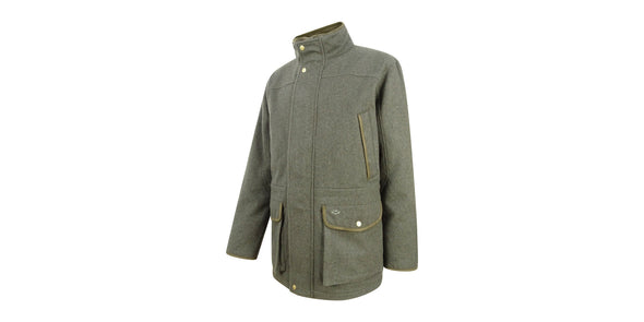 Lairg Waterproof Wool Jacket - Dark Green