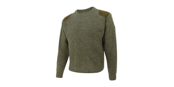 Hoggs of Fife Melrose Hunting Pullover - Marled Green