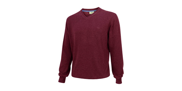 Hoggs of Fife Stirling Pullover - Burgundy