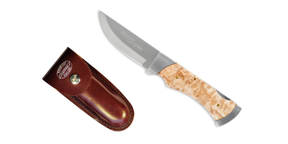 Marttiini MBL Folding Knife with Leather Sheath