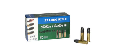 Sellier & Bellot Subsonic .22lr 40gr Hollow Point