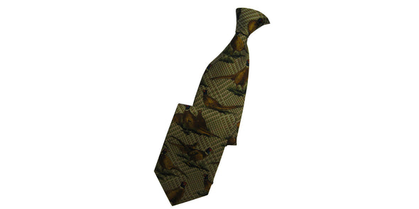Hoggs of Fife Silk Country Tie - Green/Brown Plaid