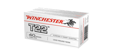 Winchester T22 .22lr 40gr Round Nose