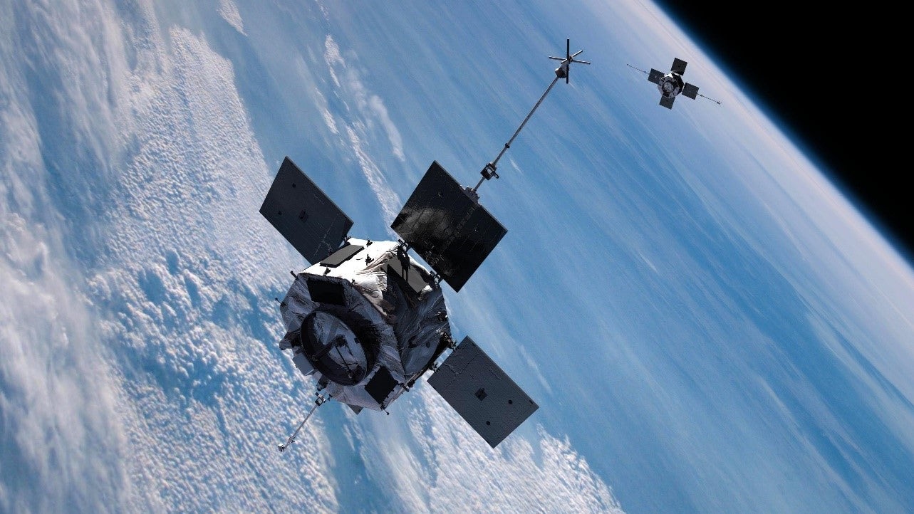 Satellites in space, aging a little slower than we do