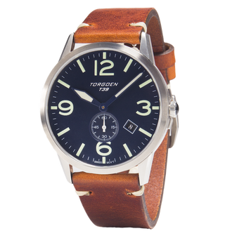 T39 Blue | 41mm - Vintage Leather Strap