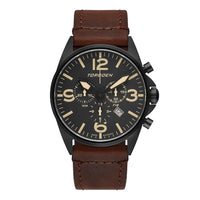 T16 Gunmetal | 44mm - Vintage Leather Strap