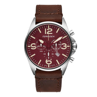 T16 Maroon Sapphire | 44mm - Vintage Leather Strap