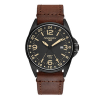 T25 Gunmetal Sapphire | 44mm - Vintage Leather Strap