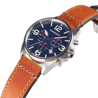 T16 Blue | 41mm - Vintage Leather Strap