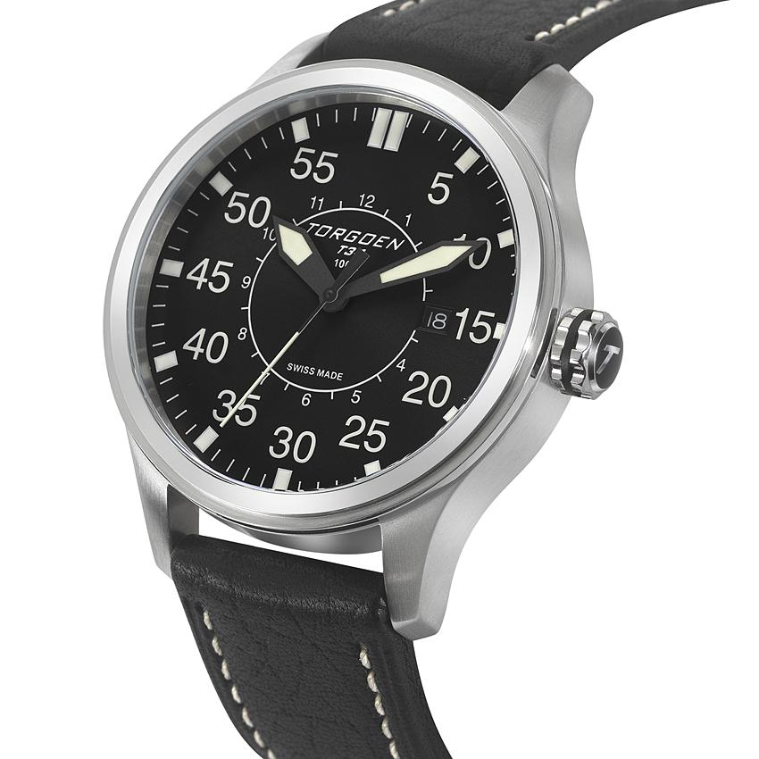 T34 Black | 45mm - Leather Strap