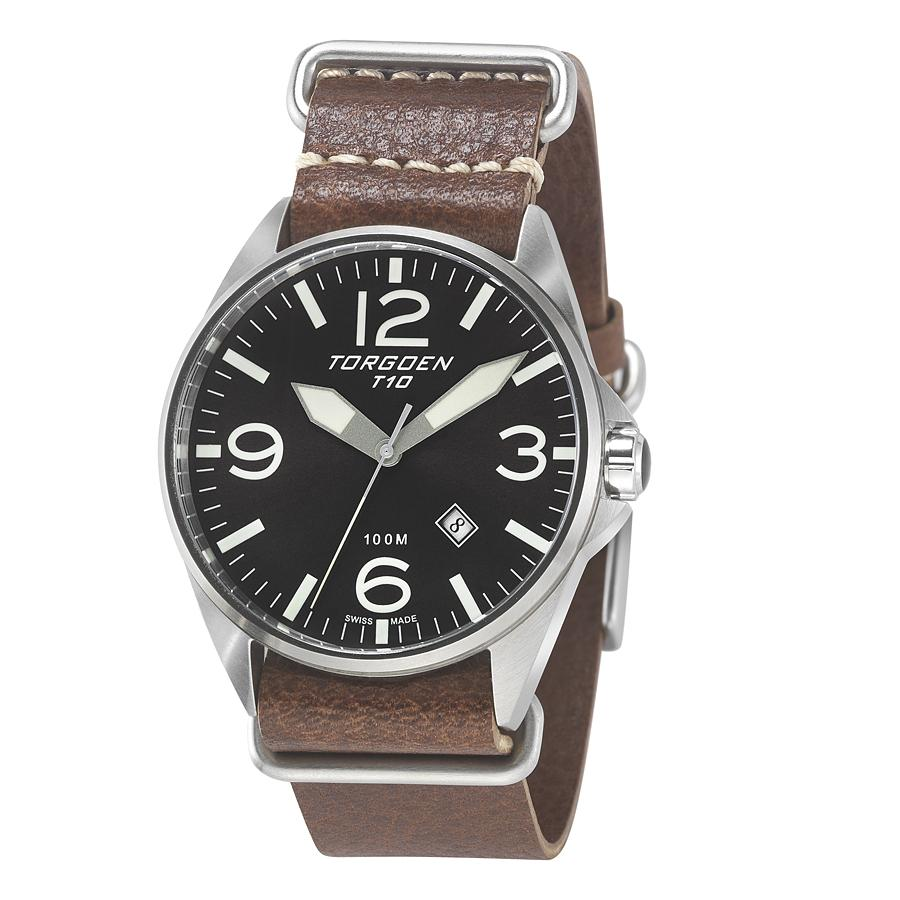 85a48cac659 Chronograph Watch - Leather Strap - T10BK45N