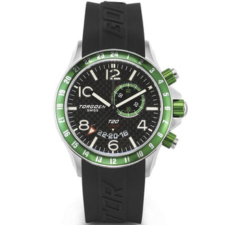 T20 Carbon Fiber | Green Case - 45mm - Silicon Strap