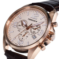 T11 Rose Gold | 41mm - Leather Strap