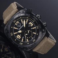 T7TC Tactical Black | 43 mm - Camel Strap