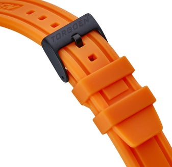 Orange Silicone Strap | 22mm Black Buckle