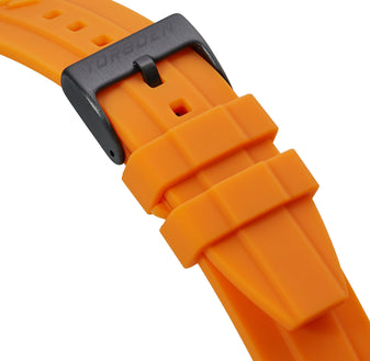Orange Silicone Strap | 24mm Black Buckle (Form Fit)