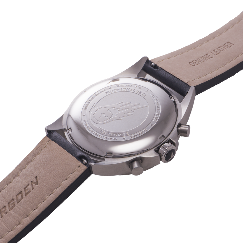 T16 Meteorite | Stainless Case - 44mm - Leather Strap