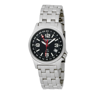 T05 Black GMT Women Pilot Watch | 34mm - Metal