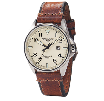 T38 Cream | 44mm - Vintage Leather Strap