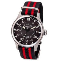 T34 Black | 45mm - Red Nato Strap