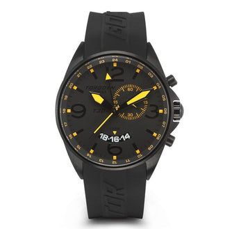 T30 Black GMT/Alarm | Orange Lumi 45mm - Silicon Strap
