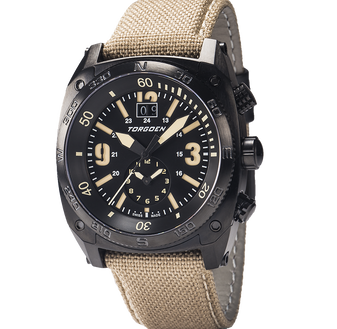T7T Tactical Black | 43 mm - Camel Strap
