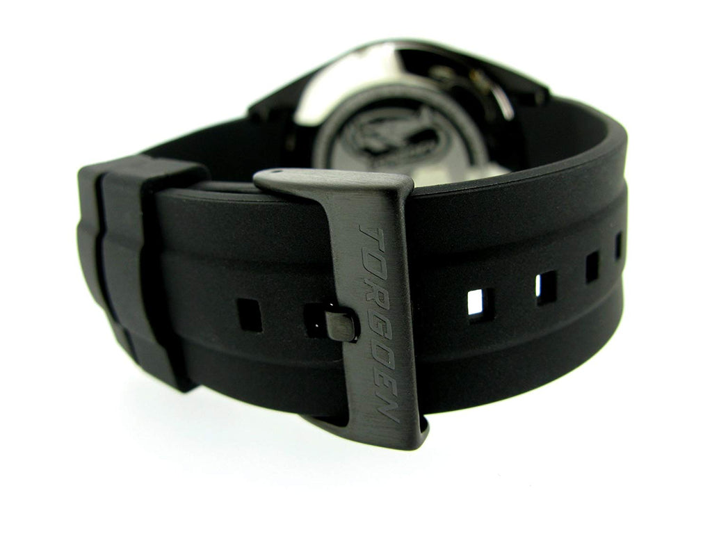 T10 Black Carbon Fiber | 45mm - Black Silicone Strap