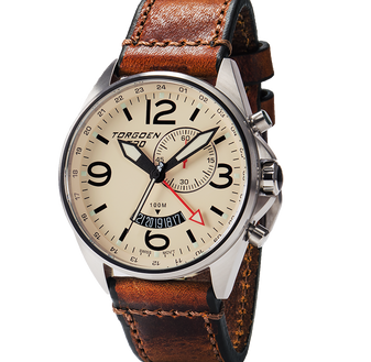 T30 Cream | 45mm - Vintage Leather Strap