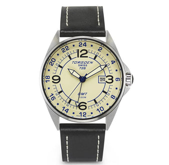 T25 Cream | 45mm - Leather Strap